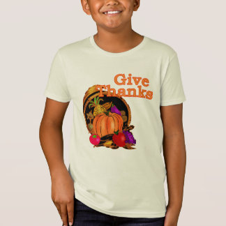 Give Thanks Cornucopia for Thanksgiving T-Shirt