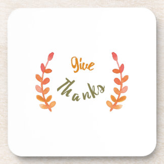 Give thanks illustration drink coasters