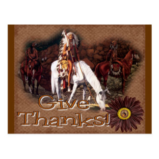 give thanks indian postcard