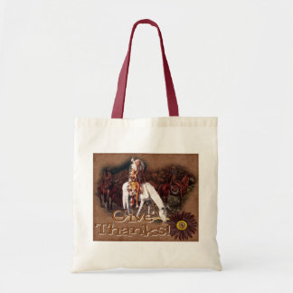 give thanks indian tote bag