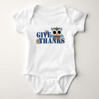 Give Thanks Owl Baby Bodysuit