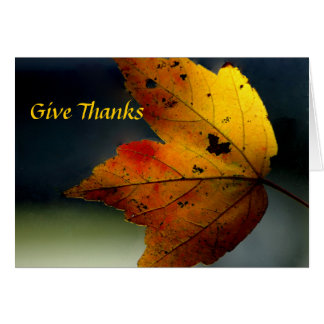 Give Thanks/ - Ralph Waldo Emerson Card
