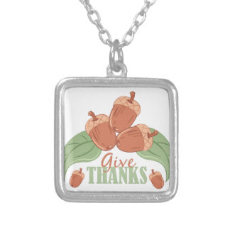 Give Thanks Silver Plated Necklace