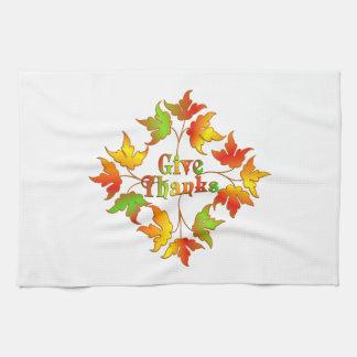 Give Thanks Tea Towel