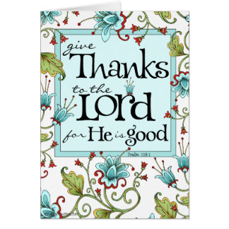 Give Thanks - Thank You Card