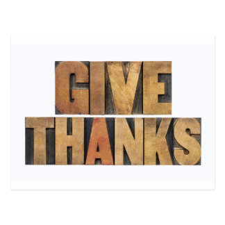 Give Thanks - Thanksgiving Concept - Isolated Postcard