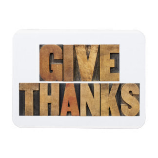 Give Thanks - Thanksgiving Concept - Isolated Rectangular Photo Magnet