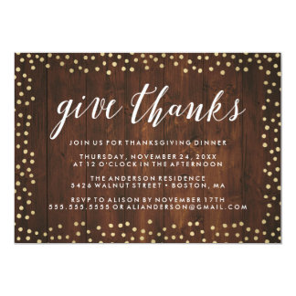 Give Thanks | Thanksgiving Dinner Invite