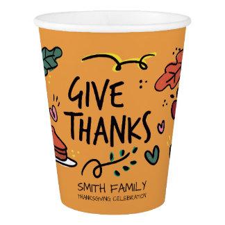 Give Thanks. Thanksgiving Family Celebration.