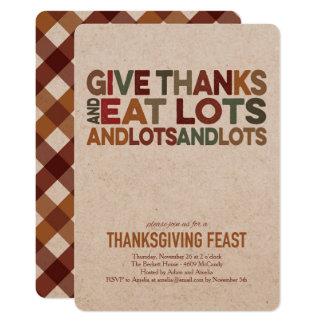 Give Thanks - Thanksgiving Invitation