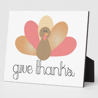 give thanks thanksgiving turkey plaque
