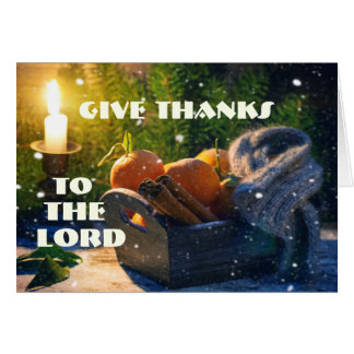 Give Thanks to the Lord, Bible Verse Greeting Card