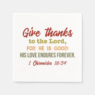 Give Thanks to the Lord Napkins Disposable Napkins