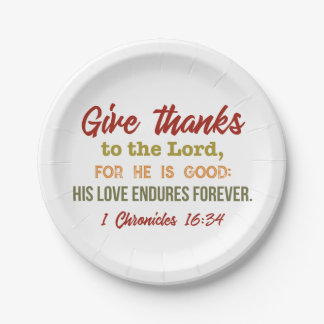 """Give thanks to the Lord paper plates"