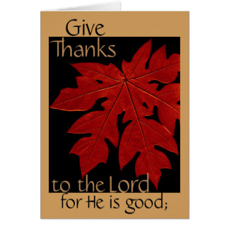 Give Thanks to the Lord Thanksgiving Prayer Card