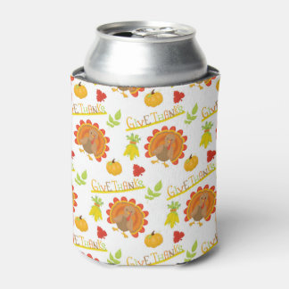 Give Thanks Turkey Can Cooler