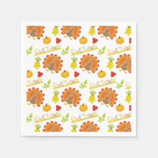 Give Thanks Turkey Disposable Napkins