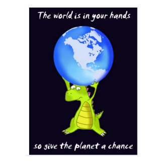 give the planet a chance postcard