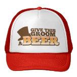 GIVE THIS GROOM A BEER wedding marriage beer Cap