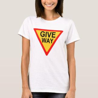 Give Way Road Sign T-Shirt