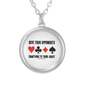 Give Your Opponents Something To Think About Necklace