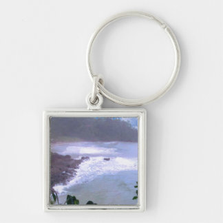 Giveaway Return+Gifts Abstract Photography Digital Silver-Colored Square Key Ring