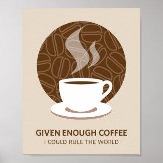 Given Enough Coffee Art Poster Print