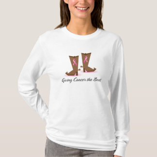 Givin' Cancer the Boot - Breast Cancer Tshirt