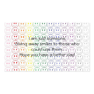 Giving Away Smiles Personal Business Card