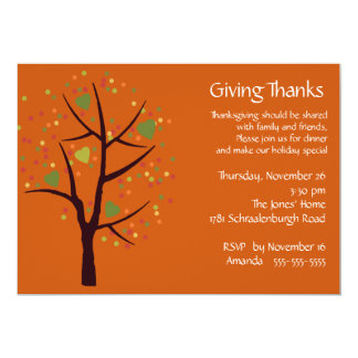 Giving Thanks Thanksgiving Dinner Party 13 Cm X 18 Cm Invitation Card