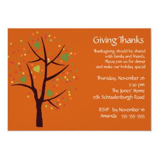 Giving Thanks Thanksgiving Dinner Party 13 Cm X 18 Cm Invitation Card