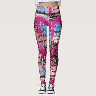 Giving Your Heart Wings Mixed Media Leggings