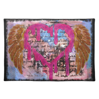 Giving Your Heart Wings Mixed Media Placemat