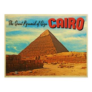 Giza Pyramid Cairo Egypt Postcard