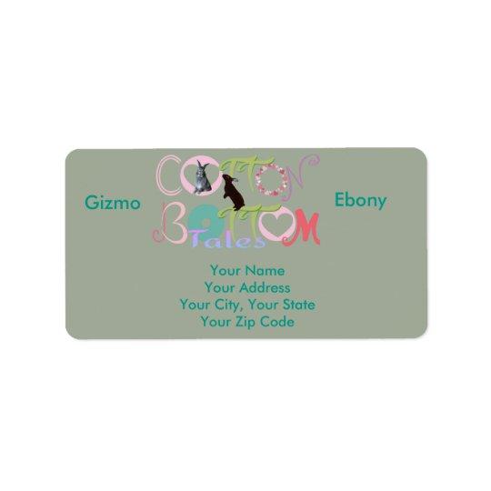 Gizmo & Ebony Cotton Bottom Tales Address Labels