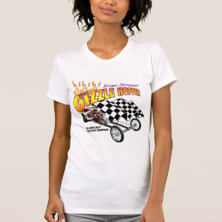 Gizzle Hopper Ladies Twofer Sheer (Fitted) T-Shirt