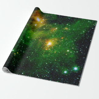 GL490 Green Gas Cloud Nebula - NASA Space Photo Wrapping Paper