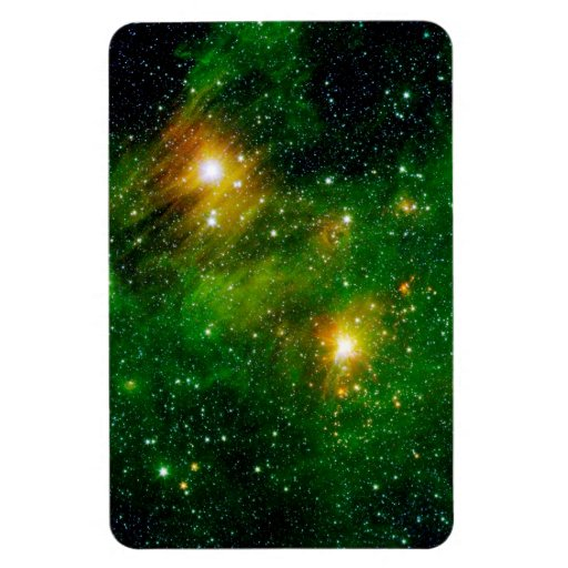 GL490 Green Gas Cloud Nebula Rectangle Magnet
