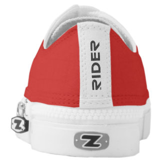 GL RIDER - Goldwing Fan Zipz Low Top Shoes (red)