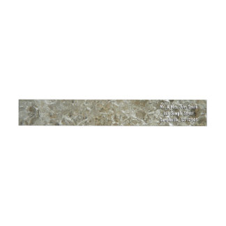Glacial Ice Abstract Nature Textured Design Wrap Around Label