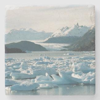 Glacial Icebergs Stone Coaster