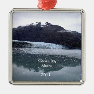 Glacier Bay, Alaska 2011 Silver-Colored Square Decoration