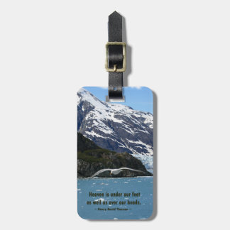 Glacier Bay with Bird / Henry David Thoreau quote Luggage Tag