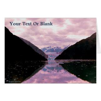Glacier Fjord Card