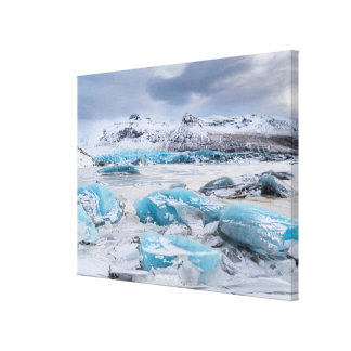 Glacier Ice landscape, Iceland Canvas Print