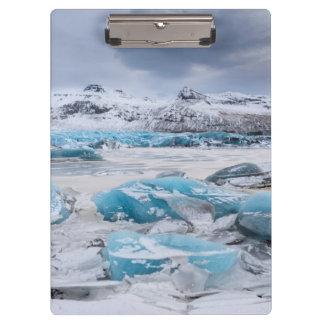 Glacier Ice landscape, Iceland Clipboard