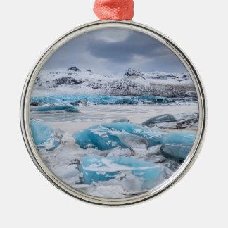 Glacier Ice landscape, Iceland Metal Ornament