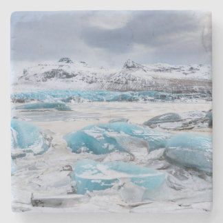 Glacier Ice landscape, Iceland Stone Coaster