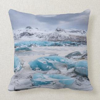 Glacier Ice landscape, Iceland Throw Pillow