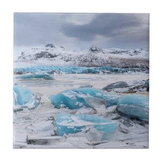 Glacier Ice landscape, Iceland Tile